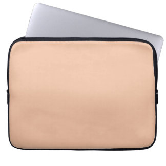 Vintage Light Peach Pink Color Trend Template Laptop Sleeve