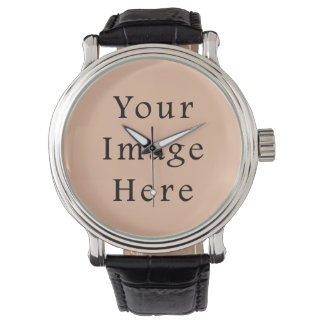 Vintage Light Peach Pink Color Trend Template Watch