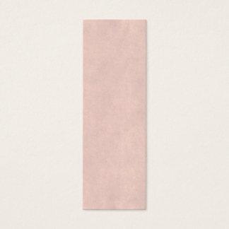 Vintage Light Rose Pink Parchment Paper Template Mini Business Card