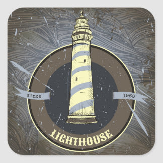 Vintage Lighthouse | 1960 Square Sticker