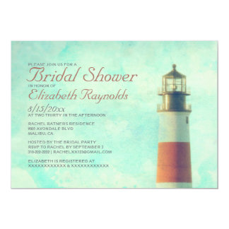 Vintage Lighthouse Bridal Shower Invitations