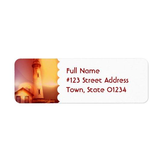 Vintage Lighthouse Mailing Label
