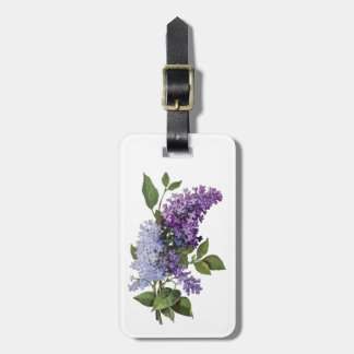 Vintage Lilacs Luggage Tag