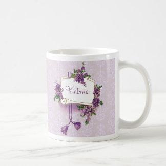 Vintage Lilacs Personalized Mug