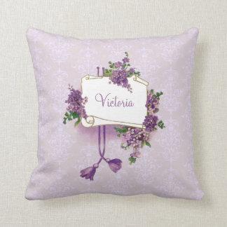Vintage Lilacs Personalized Pillow