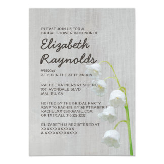 Vintage Lily of the Valley Bridal Shower Invites