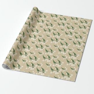 Vintage lily of the valley wrapping paper