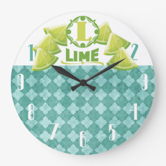 vintage lime citrus fruit kitchen clock