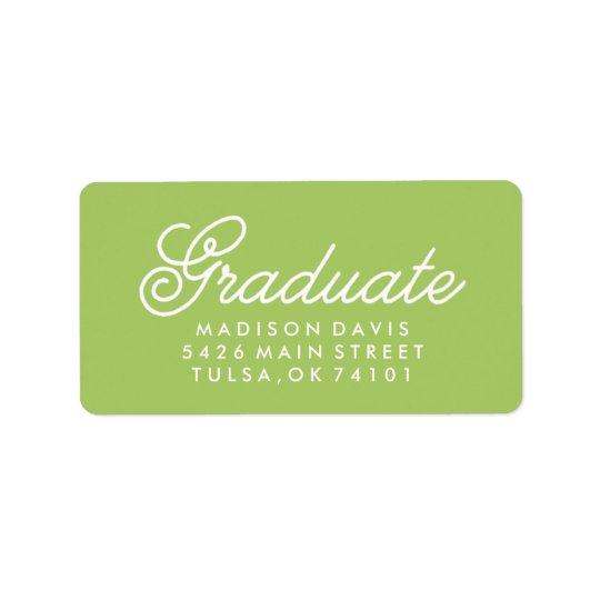 Vintage Lime Green | Graduation Label