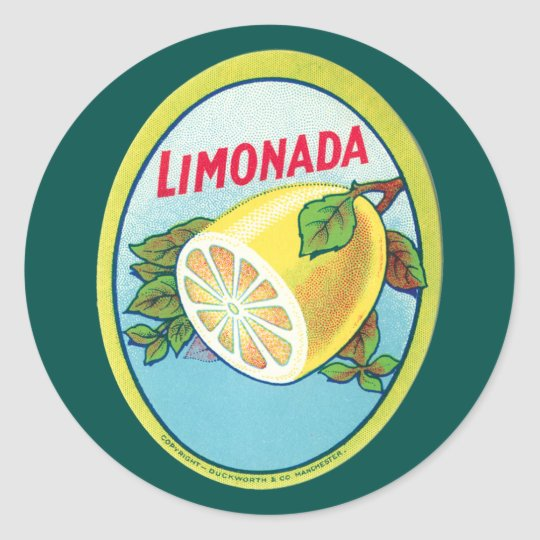 Vintage Limonada Label