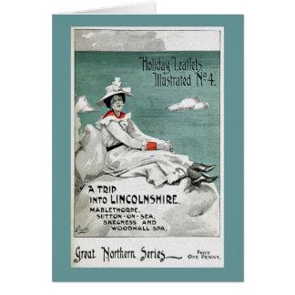 Vintage Lincolnshire, UK, Holiday Leaflet Card