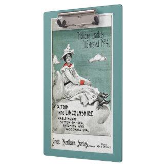 Vintage Lincolnshire, UK, Holiday Leaflet Clipboard