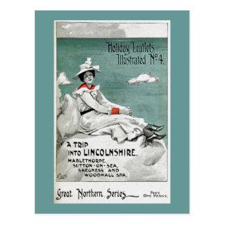 Vintage Lincolnshire, UK, Holiday Leaflet Postcard