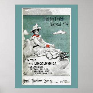 Vintage Lincolnshire, UK, Holiday Leaflet Poster