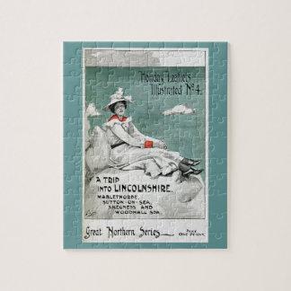 Vintage Lincolnshire, UK, Holiday Leaflet Puzzle