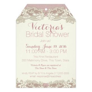 Vintage Linen and Lace Bridal Shower Cards