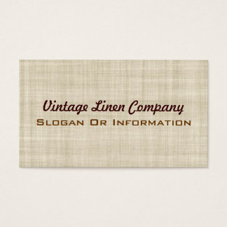Vintage Linen Business Cards
