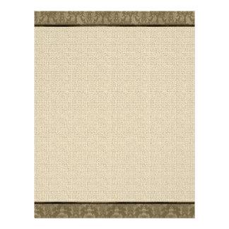 Vintage Linen Look Paper Flyer