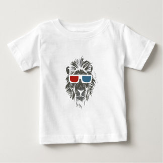 vintage lion design with color gases baby T-Shirt