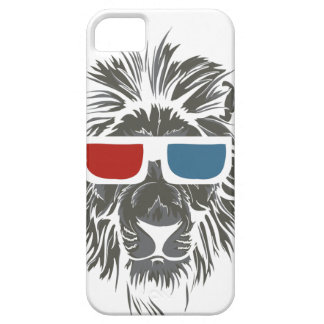 vintage lion design with color gases barely there iPhone 5 case