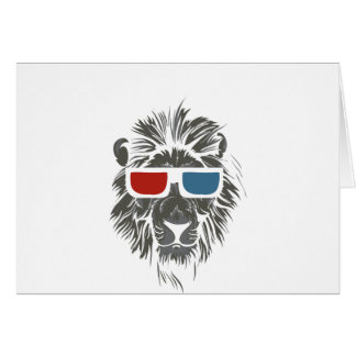 vintage lion design with color gases card