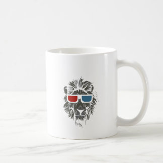 vintage lion design with color gases coffee mug