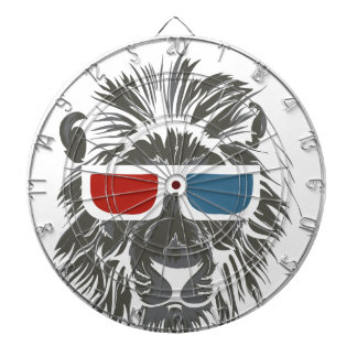vintage lion design with color gases dart boards