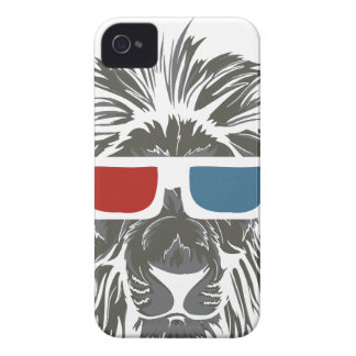 vintage lion design with color gases iPhone 4 Case-Mate cases