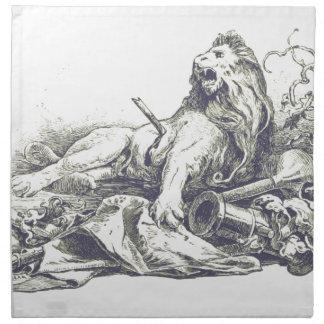 Vintage Lion Illustration Napkin