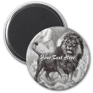 Vintage Lion Magnet