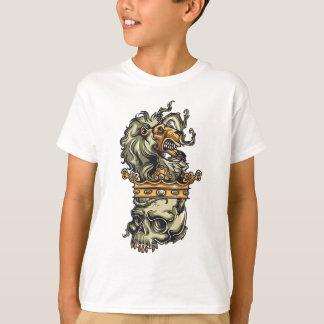 vintage lion on dead skull T-Shirt