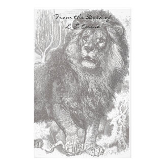Vintage Lion Stationery