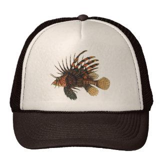 Vintage Lionfish Fish, Marine Ocean Life Animal Cap
