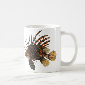 Vintage Lionfish Fish, Marine Ocean Life Animal Coffee Mug