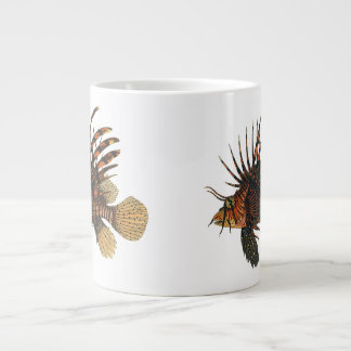 Vintage Lionfish Fish, Marine Ocean Life Animal Large Coffee Mug