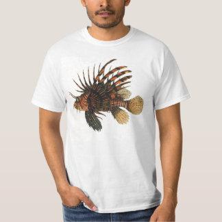 Vintage Lionfish Fish, Marine Ocean Life Animal Tee Shirt