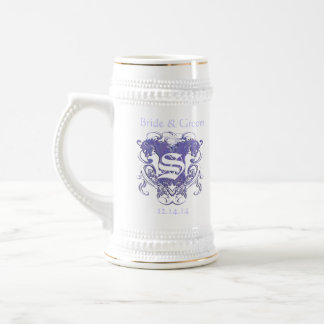 Vintage Lions with Swirls 4 Heads and Circle Swirl Beer Steins