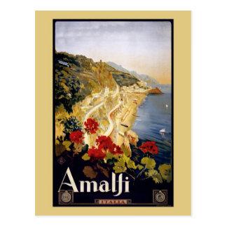 Vintage Litho Travel Ad Amalfi Italy Postcard