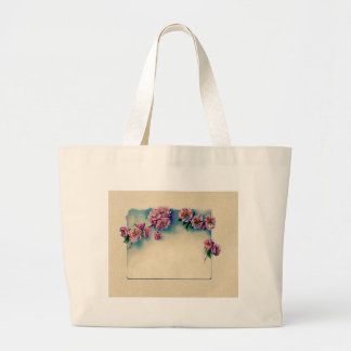 Vintage Lithograph of Cherry Blossoms; Spring Canvas Bags