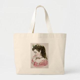 Vintage Lithograph Portrait Tote Bags