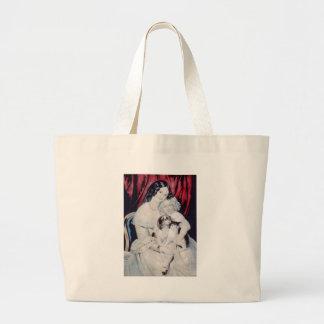 Vintage Lithograph Portrait Tote Bag