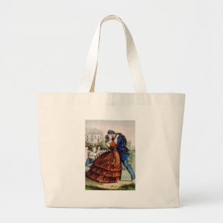 Vintage Lithograph Soldier Returns Home Bags