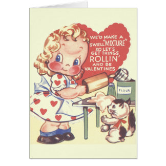 Vintage Little Baker Valentine's Day Card