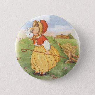Vintage Little Bo Peep Mother Goose Nursery Rhyme 6 Cm Round Badge