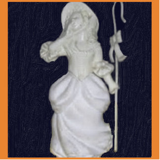 Vintage Little Bo Peep Photo Sculpture Magnet