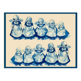 Vintage little Dutch girls Postcard