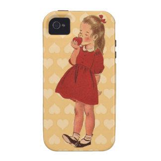 Vintage Little Girl Red Dress Apple iPhone 4 Case