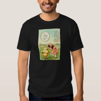 Vintage Little Girl With Chick Easter Card T Shirts