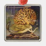 Vintage Little Mermaid Ocean Coral Fairy Tale Ornament