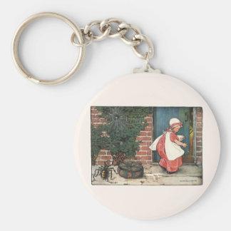 Vintage Little Miss Muffet Spider Nursery Rhyme Basic Round Button Key Ring